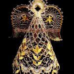 Плетем объёмного Ангела из металлизированной нити