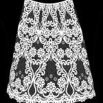 Сколок клина юбки