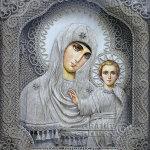 Денщиков Владимир. Иконы из льняных нитей.