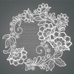 Салфетка — панно «Сказочные цветы»